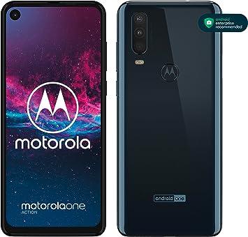 """Motorola One Action - Smartphone Dual SIM (Triple cámara: 12 MP + 5 MP y video de 16 MP con ultra gran angular, 128 GB/4 GB, Pantalla 6,3"""" FHD+, Android 9.0): Motorola: Amazon.es: Electrónica"""