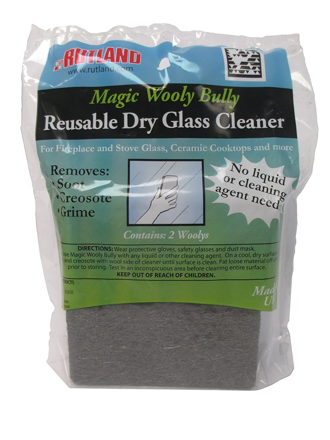 amazon com rutland magic wooly bully reusable glass cleaner home