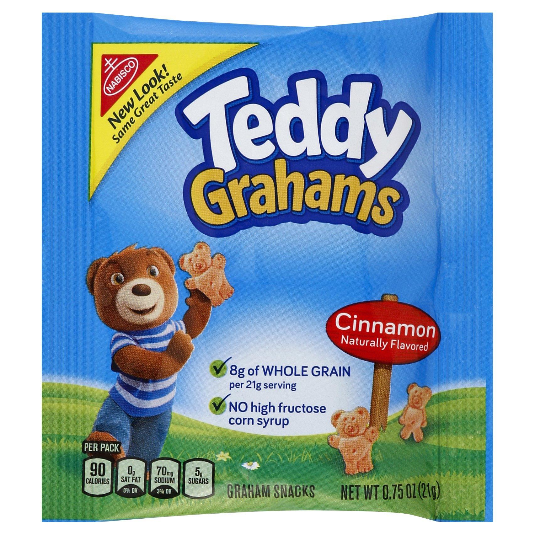 Teddy Grahams Snacks, Cinnamon, 0.75-Ounce Bags (Pack of 150) by Teddy Grahams