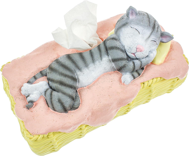 Rotary Hero Katze Taschentuchbox Osterinsel Taschentuchspender Kosmetiktücherbox Amazon De Küche Haushalt