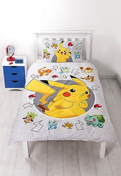 Copripiumino Pokemon.Pokemon Set Copripiumino Singolo Catch Grande Stampa Design