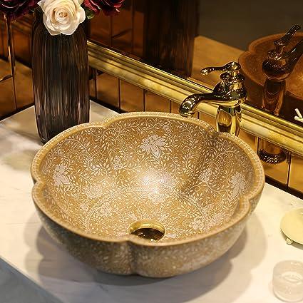 Surprising Amazon Com Vessel Sink Elegant Hand Thrown For High End Download Free Architecture Designs Grimeyleaguecom