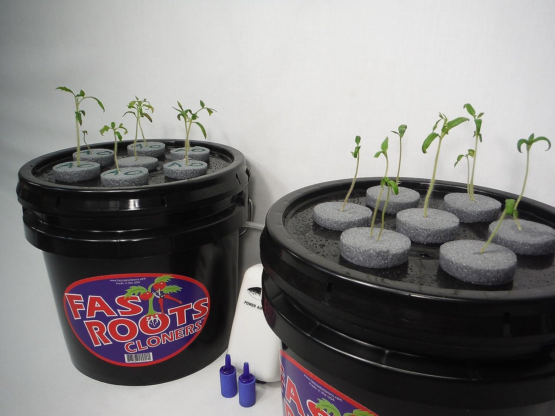 4 Site Aeroponic Garden by PowerGrow Systems Cloning Bucket 21 Site Cloner