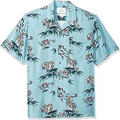 b8351bf1777f Amazon Brand - 28 Palms Men's Standard-Fit Vintage Washed 100% Rayon  Tropical Hawaiian