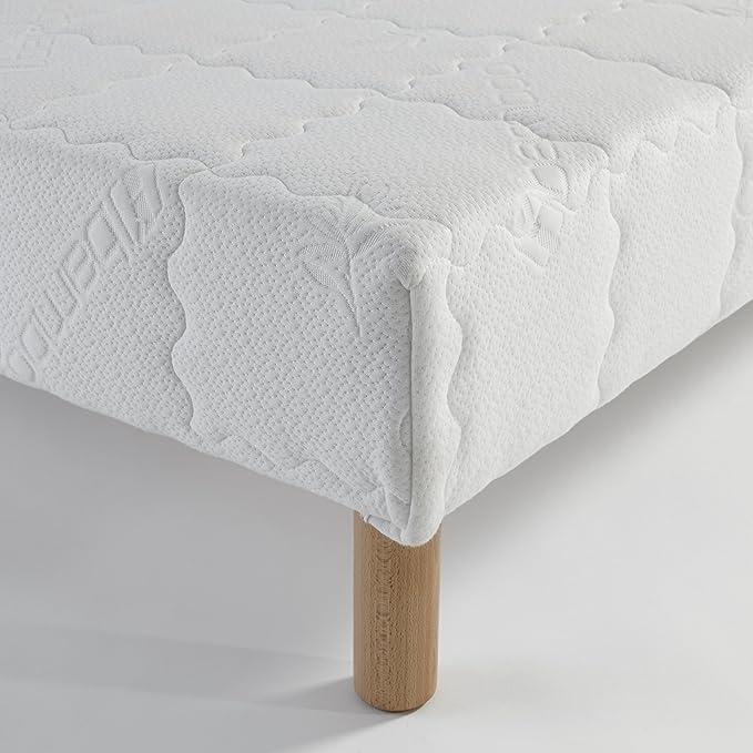 Atelier de Morphée - Somier tapizado (70 x 140 cm, láminas de madera maciza)