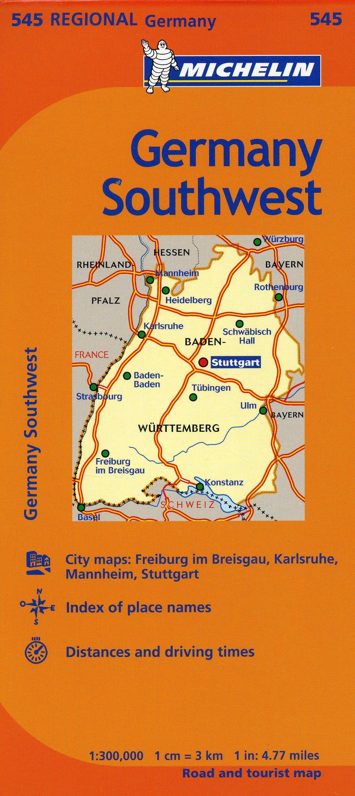 Michelin Germany Southwest Map 545 MapsRegional Michelin