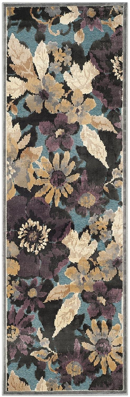 Safavieh Amalia gewebter Teppich, PAR148-770, Grau   Mehrfarbig, 73 X 228  cm