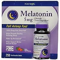 Natrol Melatonin 5 Mg, 250 Fast Dissolve Tablets Strawberry Flavor