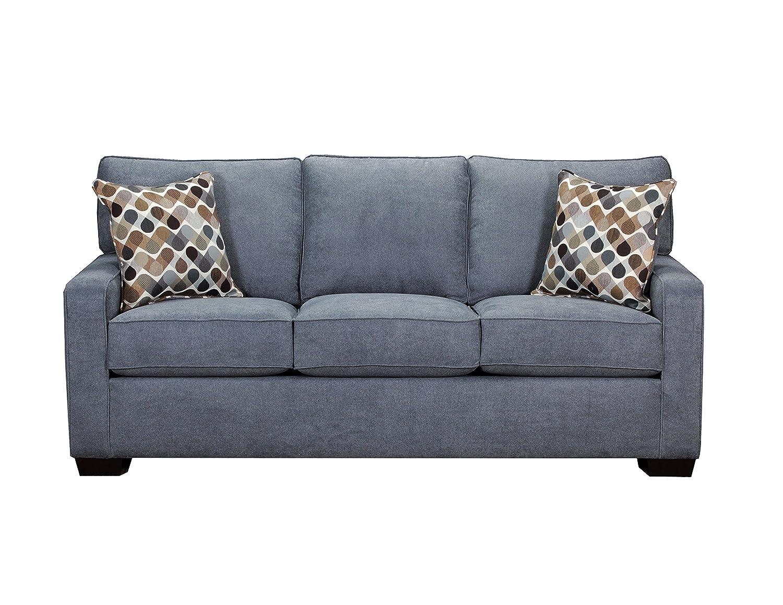 - Lane Home Furnishings 9025-04Q Mia Denim Sleeper Sofa, Queen