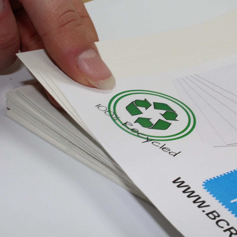 A4/bianco carta riciclata 50/fogli da Bcreative/® 220/g//mq