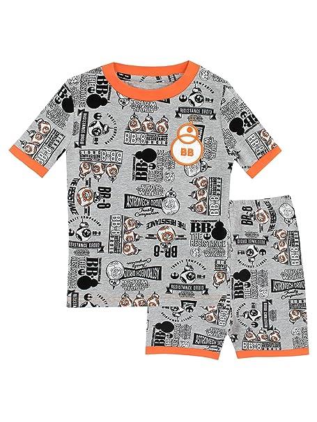 Star Wars Pijamas de manga corta para Niños BB8 Ajuste Ceñido Gris 10 - 11 Años