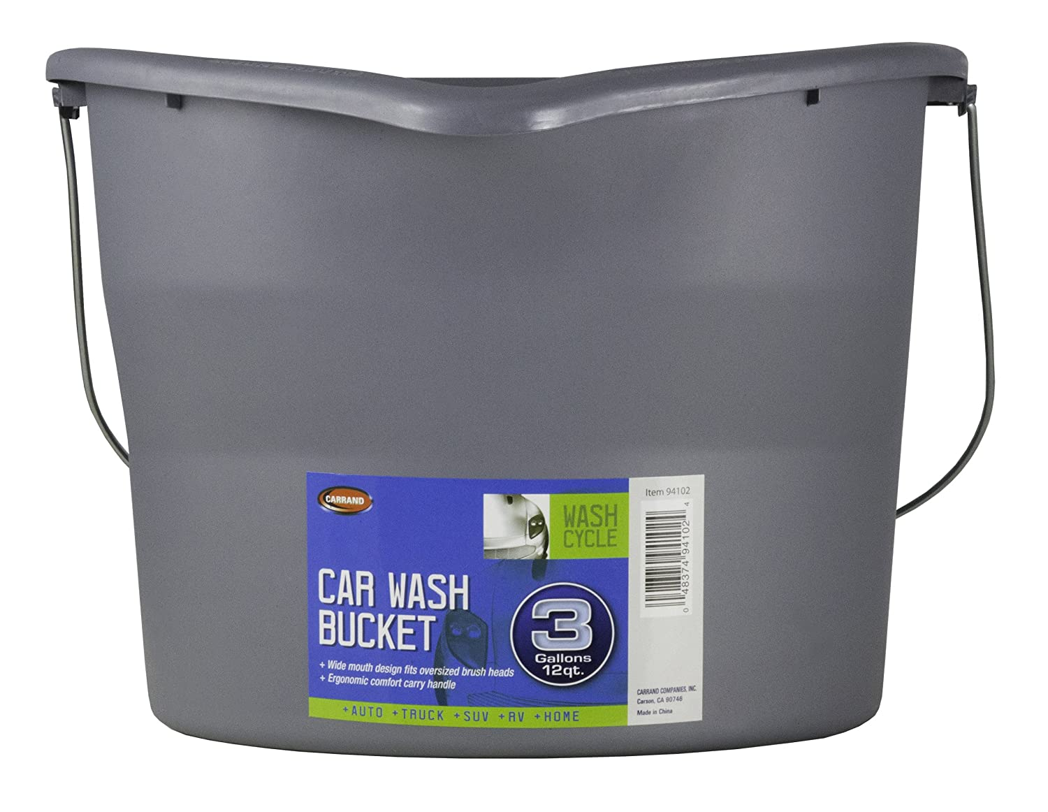 Carrand 94102 Car Wash Bucket - 3 Gallon Capacity