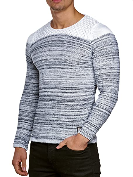 Jersey Jersey De Punto Hombre Tejer Invierno Chaqueta de punto Carisma CRSM  Manga larga Clubwear Camisa Manga Larga Sudadera Camisa Suéter Kosmo Estilo  ... 395e5cb33a2