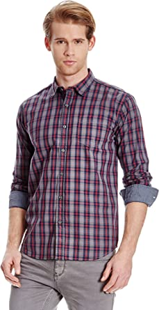 Broadway NYC Camisa Hombre Fabian Granate XL: Amazon.es: Ropa ...