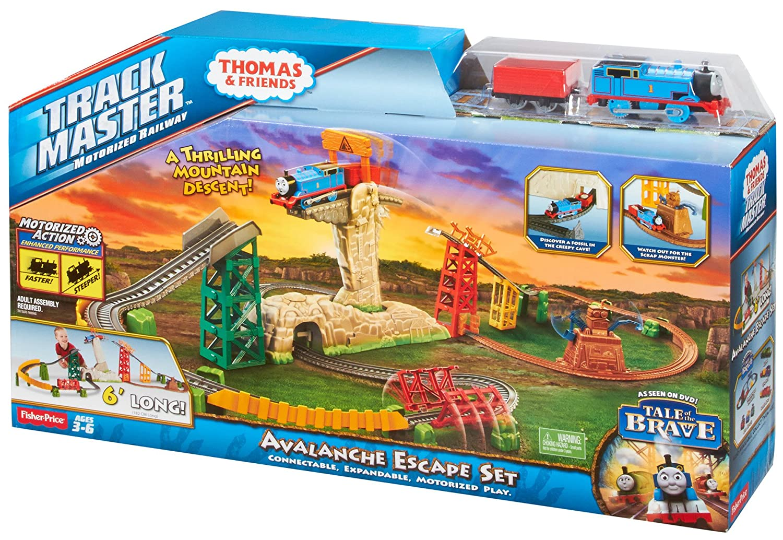 Fisher price thomas amp friends trackmaster treasure chase set new - Amazon Com Fisher Price Thomas Friends Trackmaster Avalanche Escape Set Toys Games