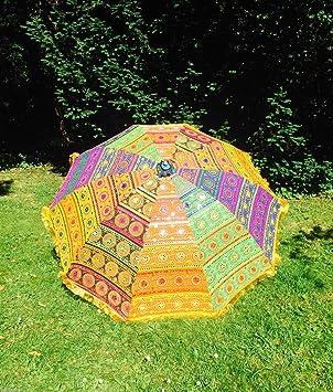 Amazonde Bazzaree Garten Sonnenschirm Handgefertigt Bestickt