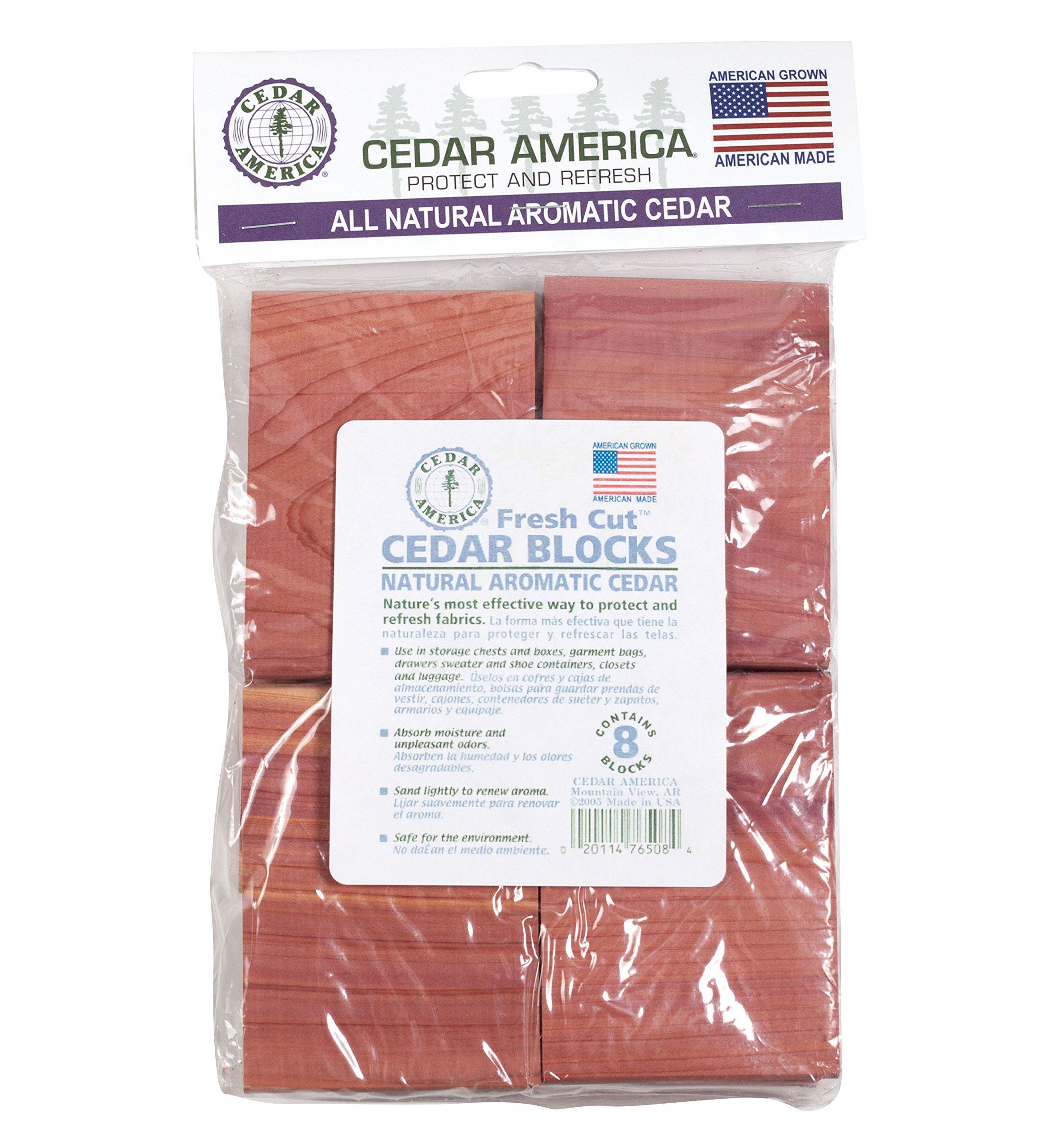 Cedar America Natural Aromatic Cedar Wood Blocks, 2-Pack (16 Blocks in total)