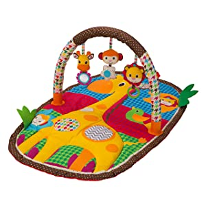 Infantino Take & Play Safari Activity Gym and Play Mat