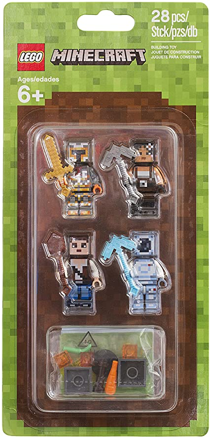 28 Piece LEGO Minecraft Minecraft Skin Pack 2 853610 Buildinig Kit