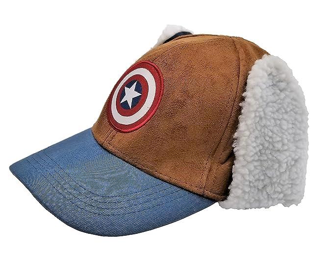Image Unavailable. Image not available for. Colour  ThinkGeek Marvel  Captain America Winter Hat f4e7e105ba6