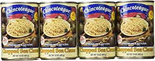 product image for Chincoteague Seafood Chopped Sea Clams, 15-Ounce Cans (Pack of 12)