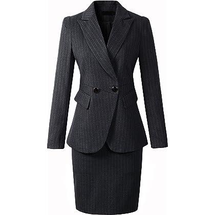 激情女郎 レディース ストライプ スカートスーツ ビジネススーツ パンツセットスーツ