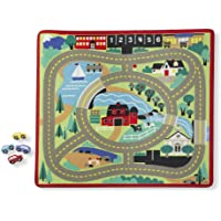 Melissa & Doug Round The Town Road Rug, Multi Color