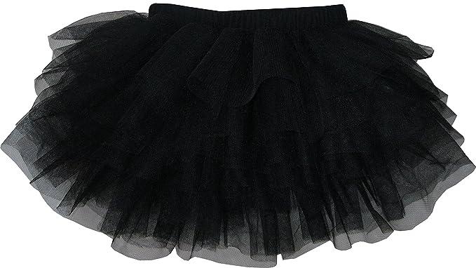 Amazon.com: Sunny Fashion Girls Skirt Black Classic Tull Muti ...