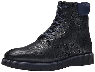 Calvin Klein Men's Weber Leather/Nylon Boot, Black/Dark Navy, ...