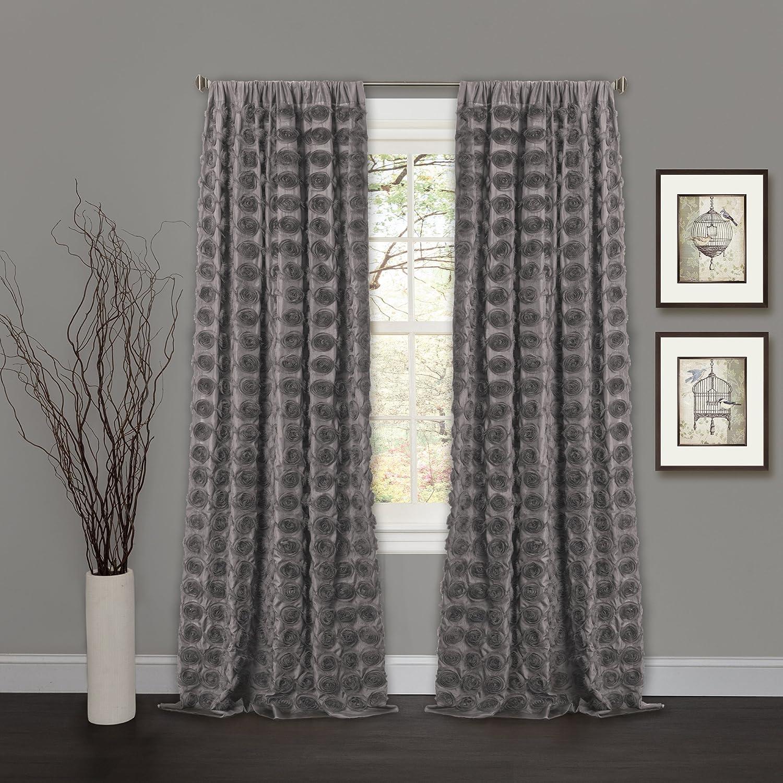 Lush Decor Lake Como Curtains Amazoncom Lush Decor Emma Window Curtain 84 By 50 Inch Ivory