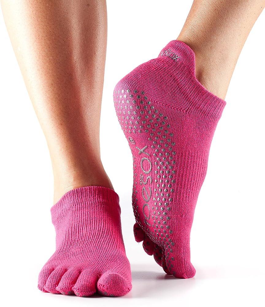 Toesox Full Toe Elle Yoga /& Pilates Grip Sock Mujer