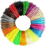 3D Pen Filament, 1.75mm PLA Filament Refills, 18 Colors Total 180 Feet, Not-Toxic, No Bubbles, No Smell, Fast Forming…