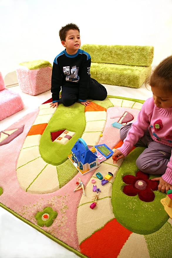 134 x 180cm Little Helper 3D Childrens Play Rug in Nautical Design