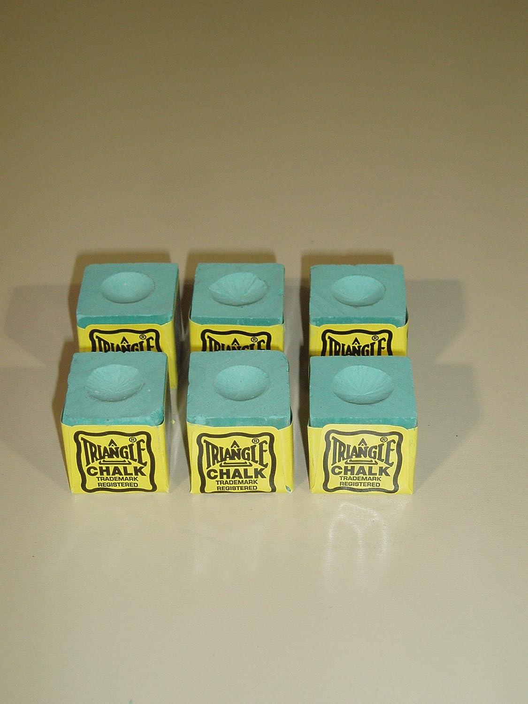 Triangle - Juego de 6 tizas para para tacos de billar y de snooker ...
