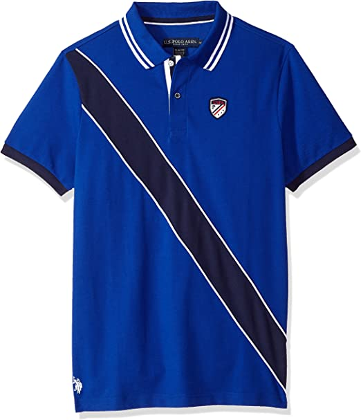 Mens Short Sleeve Slim Fit Fancy Shirt Polo Assn U.S