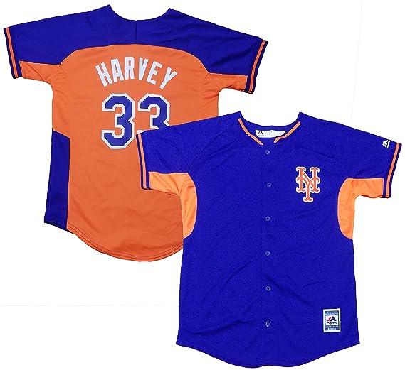 outlet store 05508 12586 Amazon.com: Matt Harvey New York Mets Youth Blue Orange ...