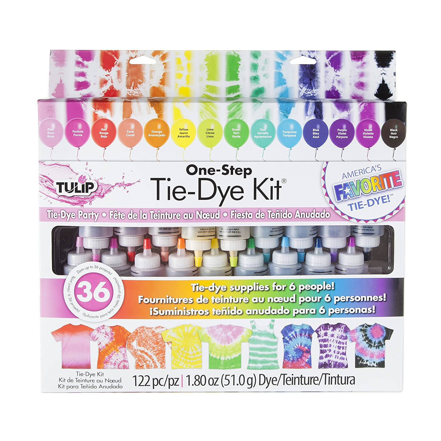 Amazon Tulip 32378 One Step 18 Color Tie Dye Kit Arts Crafts