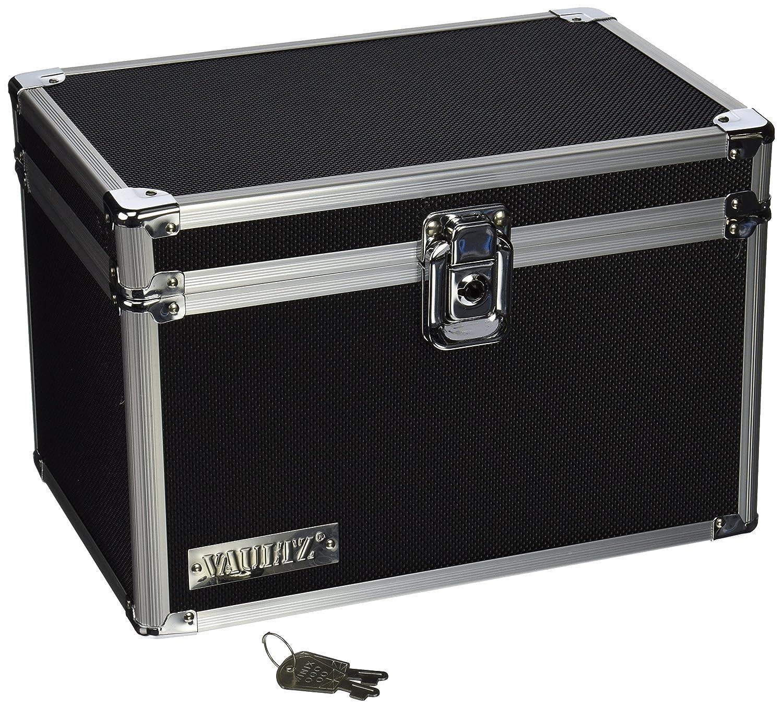 Vaultz Locking 5 x 8 Index Card Box, Black (VZ01280)