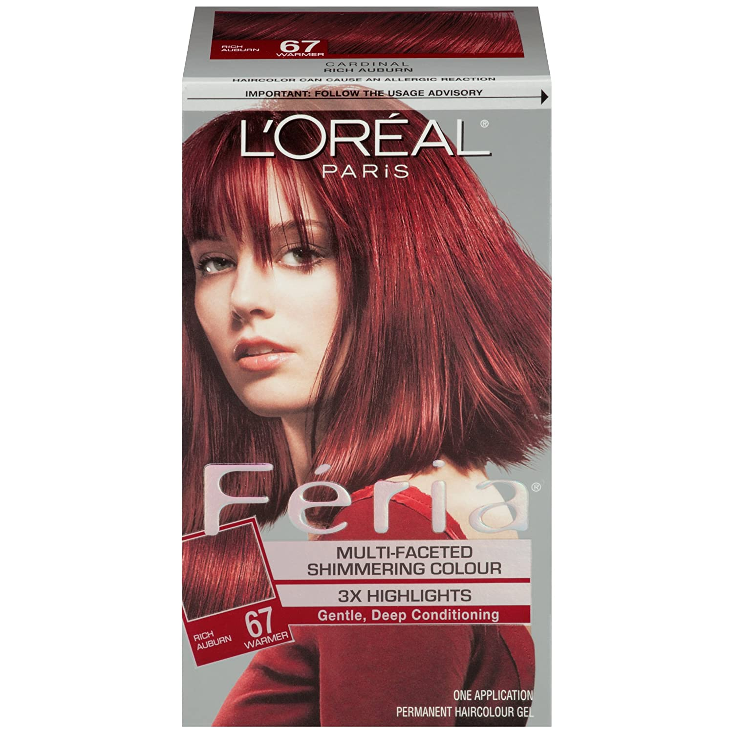 Amazon Loreal Paris Feria Hair Color 67 Rich Auburncardinal