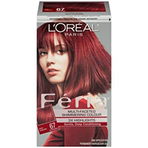 L'Oreal Paris Feria Hair Color, 67 Rich Auburn/Cardinal