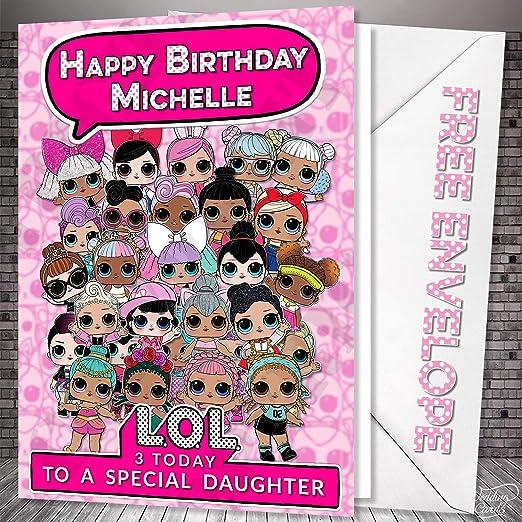 Tarjetas de boda LOL DOLLS sorpresa tarjeta de cumpleaños ...