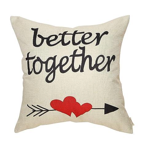 Fjfz - Funda de cojín con Texto en inglés Better Together ...