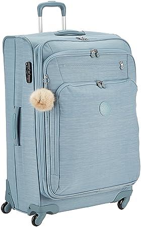 Kipling Youri Spin Equipaje de mano 78 cm, 99 Litros, Azul (Dazz Soft Aloe): Amazon.es: Equipaje