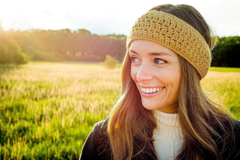 Winter Luxury Handmade Headband Burgundy Surhilo Talara Alpaca Knit Head Warmer