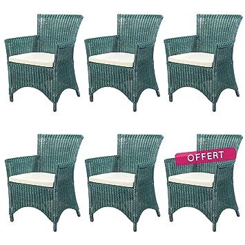 Rotin Design REBAJAS : -41% Lote 6 sillones de ratan Rosas ...