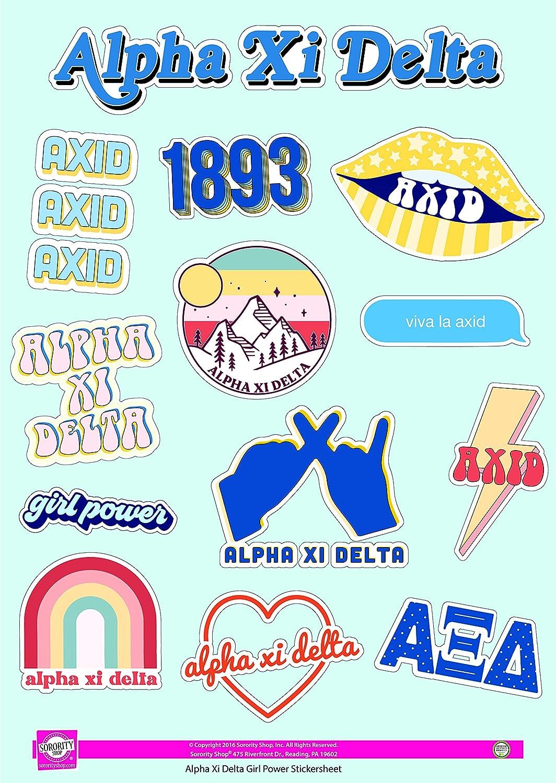 Girl Power Sticker Sheet Alpha Xi Delta