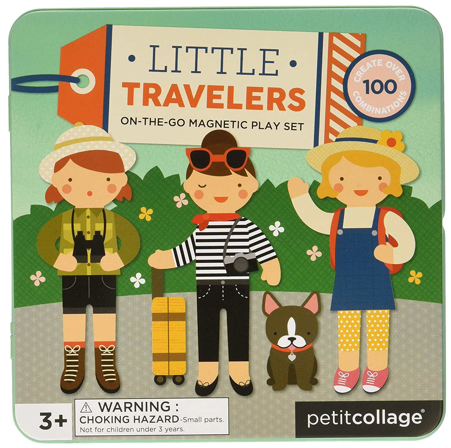 Petit Collage |Magnets | Game On The Go Girl Wild & Wolf Ltd. PTC226