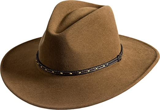 ab49b3c93ba0f Image Unavailable. Image not available for. Color  Overland Sheepskin Co Pathfinder  Crushable Wool Felt Outback Hat