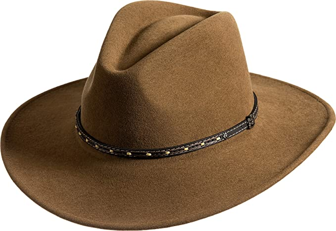 e6776f43803 Image Unavailable. Image not available for. Color  Overland Sheepskin Co  Pathfinder Crushable Wool Felt Outback Hat
