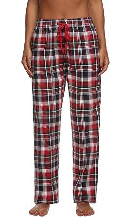 économiser jusqu'à 80% hot-vente dernier prix plancher Ekouaer Pantalon Pyjama Femme à Carreaux Coton Bas de Pyjama ...